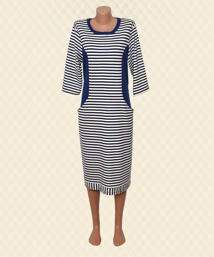 Платье женское Полоска французский трикотаж