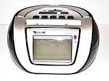 Бумбокс колонка караоке часы MP3 Golon RX 656Q Black, фото 2