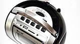 Бумбокс колонка караоке часы MP3 Golon RX 656Q Black, фото 3