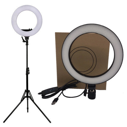Кольцевая LED лампа Ring Light 20 см + штатив, 12W