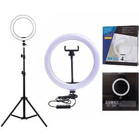 Кольцевая LED лампа SL300 диаметром 30 см, крепление для телефона, управление на проводе, штатив, USB