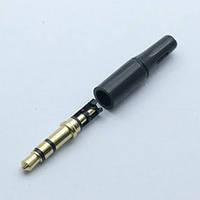 Штекер 3.5mm 3 pin 17 mm Аудио Стерео Микрофон Наушники Медь