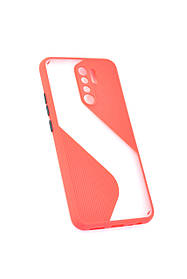 Чехол для телефона Huawei Y5P (2020) Silicone Wave Red/black