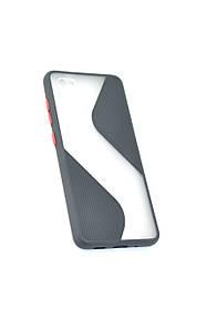 Чехол для телефона Huawei Y6P (2020) Silicone Wave Black/red