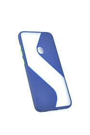 Чехол для телефона Huawei Y6P (2020) Silicone Wave Dark Blue/green