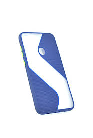 Чехол для телефона Huawei P40 Lite E/Y7P (2020) Silicone Wave Dark Blue/green