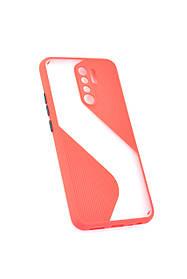 Чехол для телефона Huawei P40 Lite E/Y7P (2020) Silicone Wave Red/black