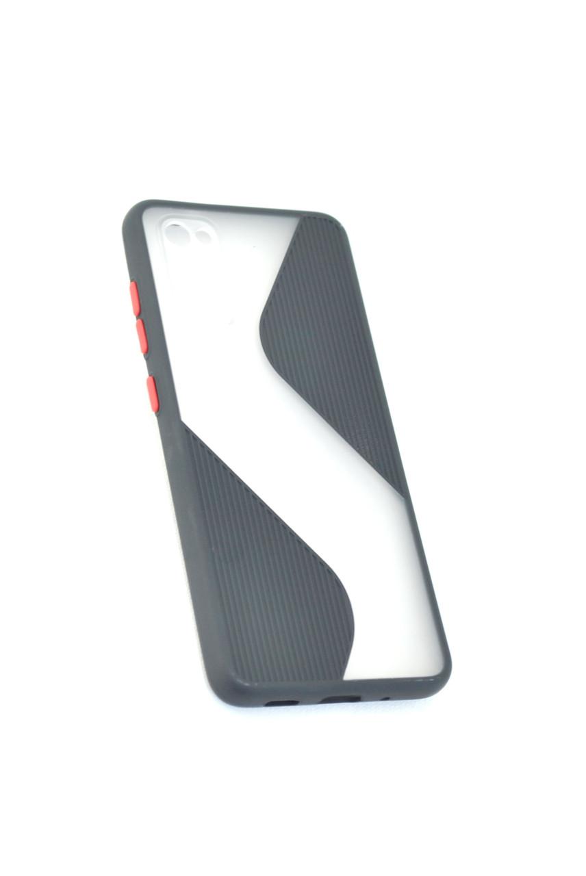 Чехол Xiaomi Redmi Note 9 Silicon Wave Black/red
