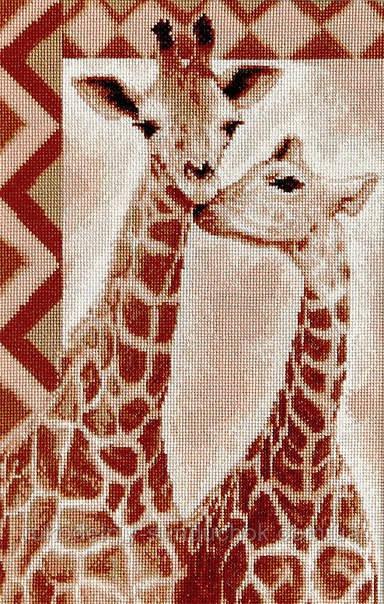 """Набор для вышивания крестом """"Luca-s""""  B2216 Жирафы"""