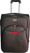 Коричневый большой тканевый 4-колесный чемодан 80 л. Suitcase 013755-brown