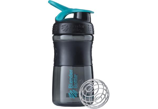 Спортивная бутылка-шейкер BlenderBottle SportMixer 590ml Black/Teal (ORIGINAL)