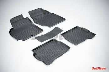 Коврики в салон для Nissan Almera classic (B10) 2006-2013 резиновые, кт 5шт