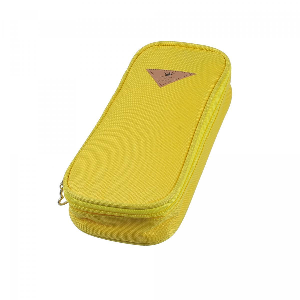 Пенал школьный Supretto Желтый (55870002)