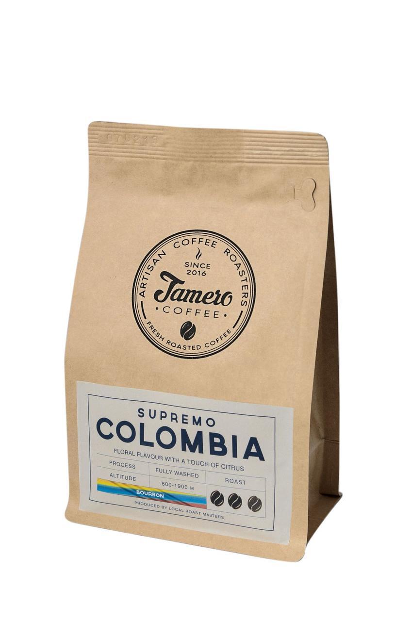 Кофе в зерне свежеобжаренный Jamero Арабика Колумбия Супремо 8 х 500 г (4 кг)