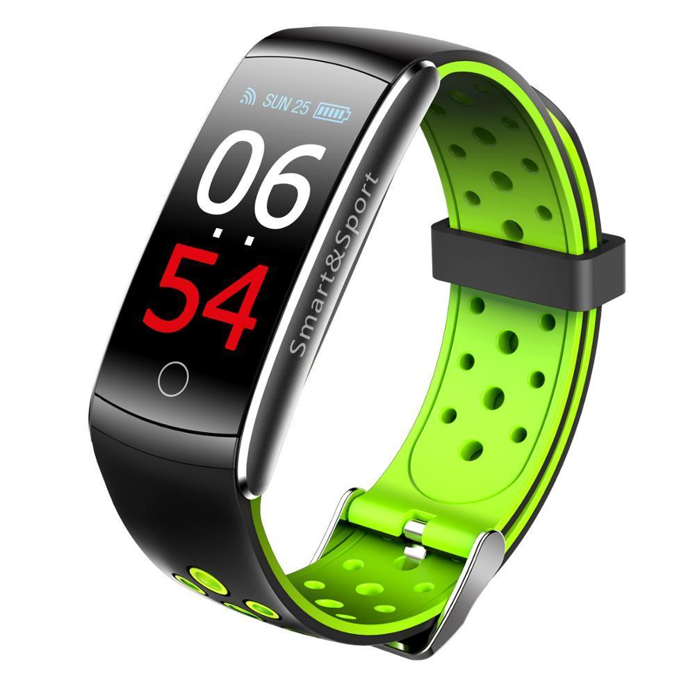 Умный фитнес-браслет Lemfo Q8S со встроенным тонометром Зеленый (ftlemq8sgr)