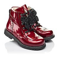 Ботинки для девочки ,кожаные,ортопедические, лаковые,красные.Турция.Woopy 7102/р.31,36,37
