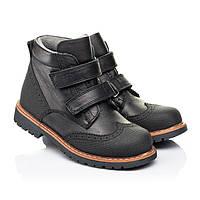 Ботинки ортопедические, для мальчика,кожаные,черные,на липучках.Турция.Woopy 7108/р24-35