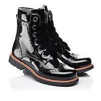 Ботинки на девочку ,лаковые,черные, ортопедические.Турция.Woopy 7093/р31,33,37,38,39,40