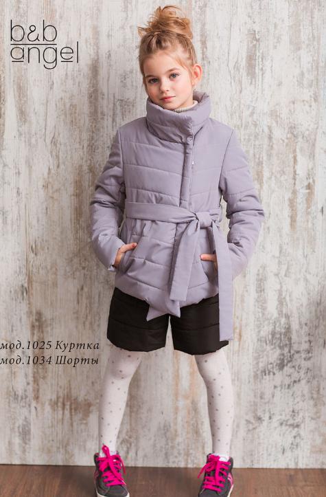 Демисезонная куртка с поясом для девочки ТМ Baby Angel р-р 158,164