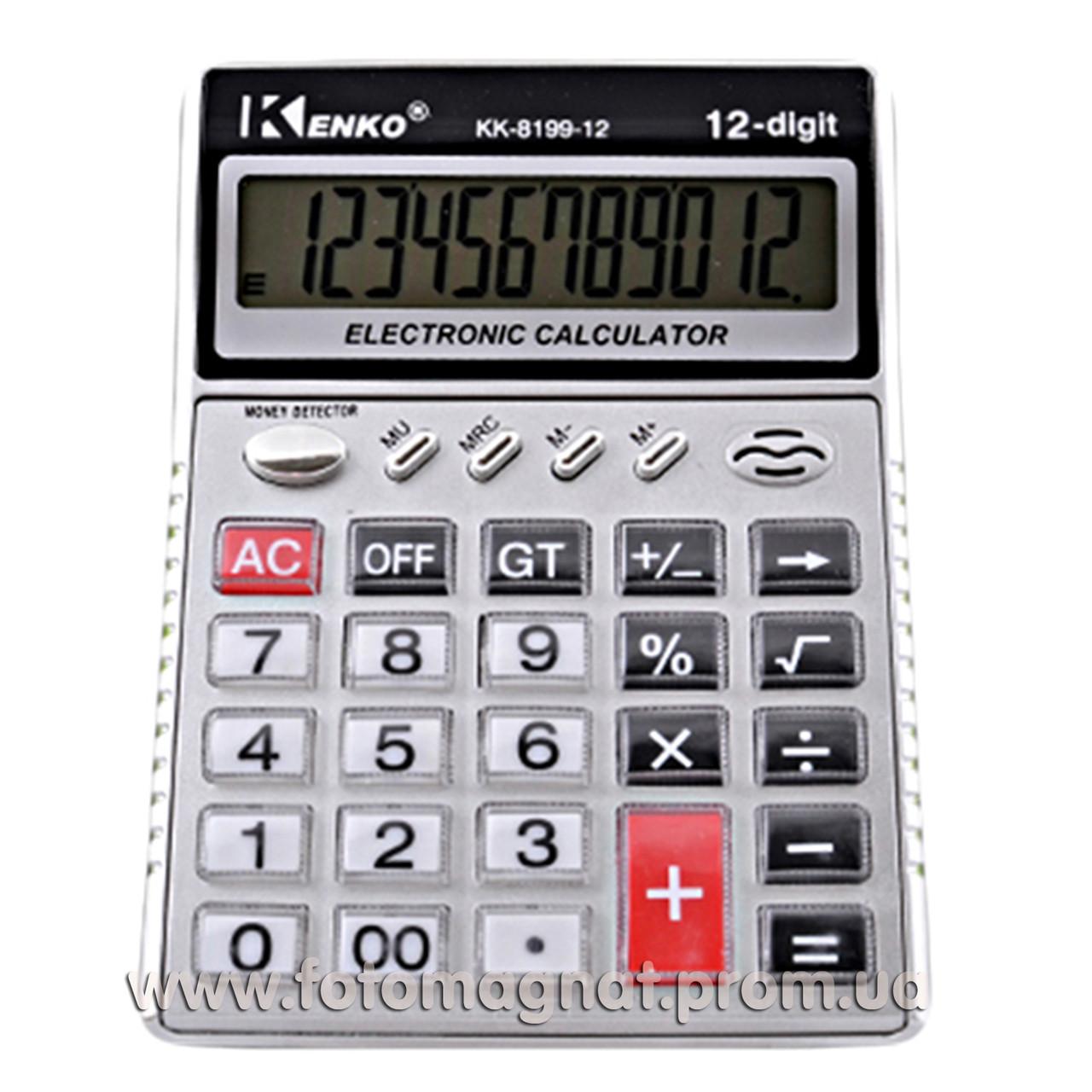 Калькулятор настольный бухгалтерский Kenko 8199