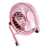 USB настольный вентилятор Pink, фото 2
