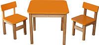 Детский комплект стол и два стульчика