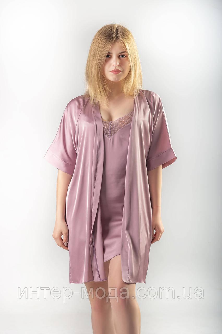 Женский халат (15) Розовый