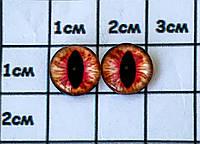 Глазки для игрушек (Фурнитура для кукол) клеевые 10 мм