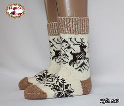 Женские шерстяные носки Олени, фото 3