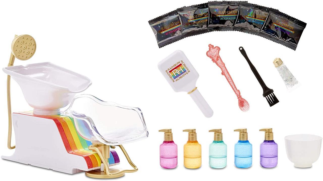 Игровой набор Rainbow High Рейнбоу Хай Салон красоты с пеной для волос MGA