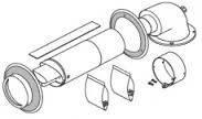 Комплект для горизонтального проходу через стену 60/100, з телескопической трубою Protherm