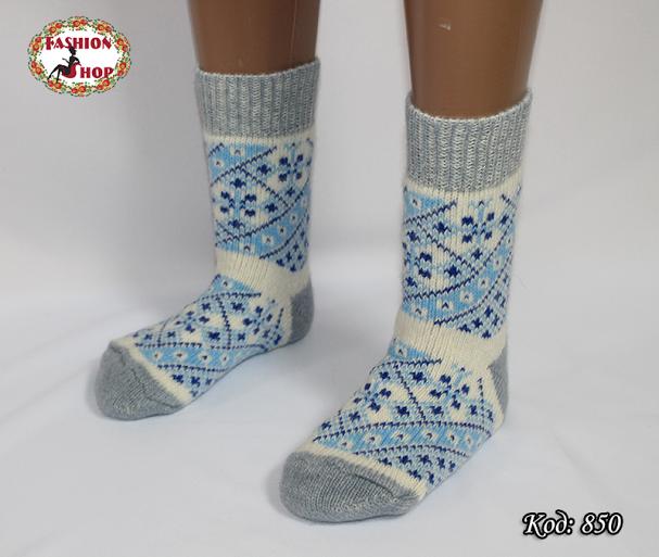 Женские шерстяные носки Морозные узоры