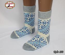 Женские шерстяные носки Морозные узоры, фото 2
