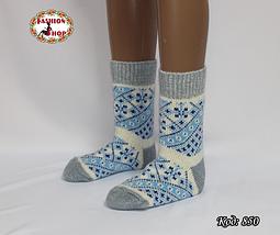 Женские шерстяные носки Морозные узоры, фото 3