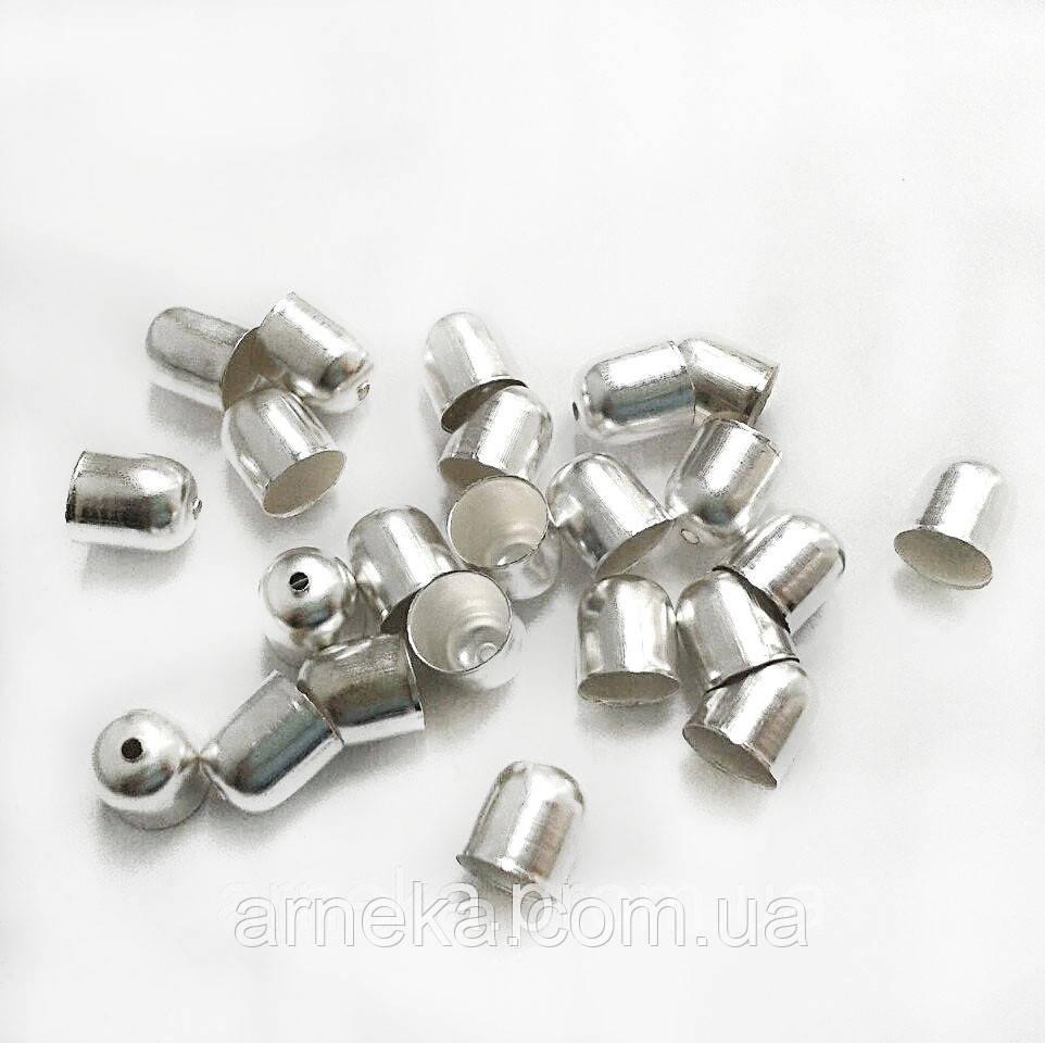 Колпачок для жгута (d 0,8 см) под серебро