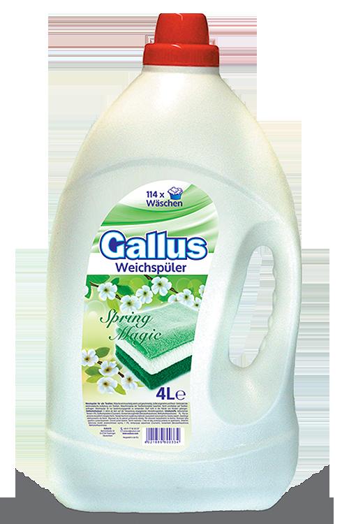 Кондиционер ополаскиватель Gallus Spring Magic для белья 4 л