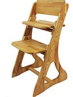 Зростаючий дитячий стілець з бука, фото 1