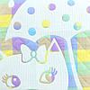 Детский плед лен, покрывало голубое в детскую, плед из льна 120x115см, фото 2