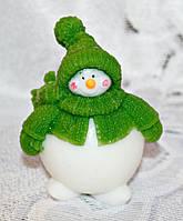 """Новогодний набор мыла ручной работы """"Снеговик-пухлячек"""""""