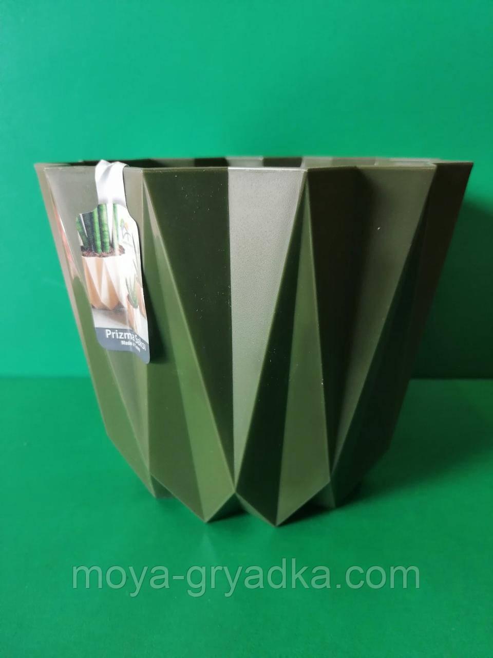 Прізма горщик 1,5л Зелений Elifplastic