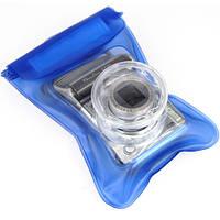 Подводный чехол для фотоаппаратов мыльниц, синий