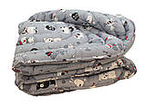 "Комплект Одеяло лебяжий пух ""Dogs"" 1.5-сп. + 1 подушка 50х70, фото 4"