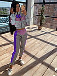 Женский стильный костюм из рефлективной плащевки светоотражающий(в расцветках), фото 8
