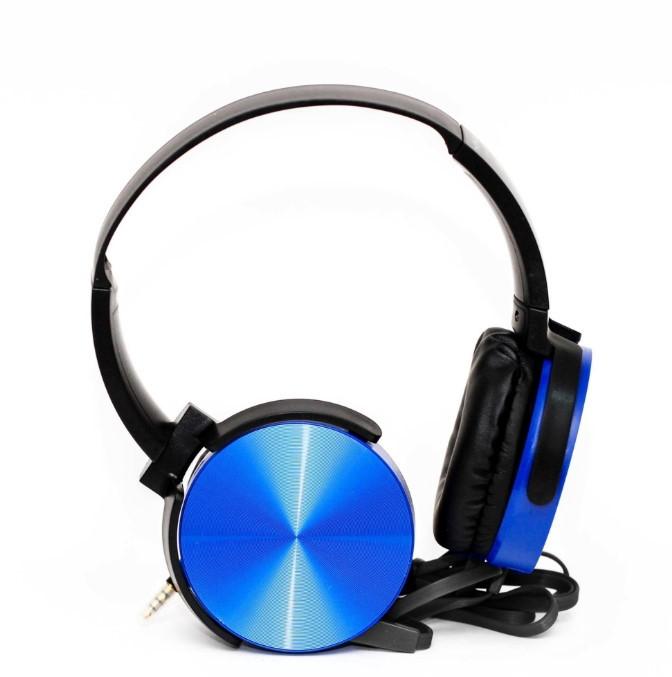 Накладные наушники гарнитура (с микрофоном) MDR-XB450 синие