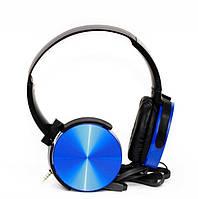 Накладные наушники гарнитура (с микрофоном) MDR-XB450 синие, фото 1