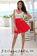 Нарядное платье Изольда красная юбка