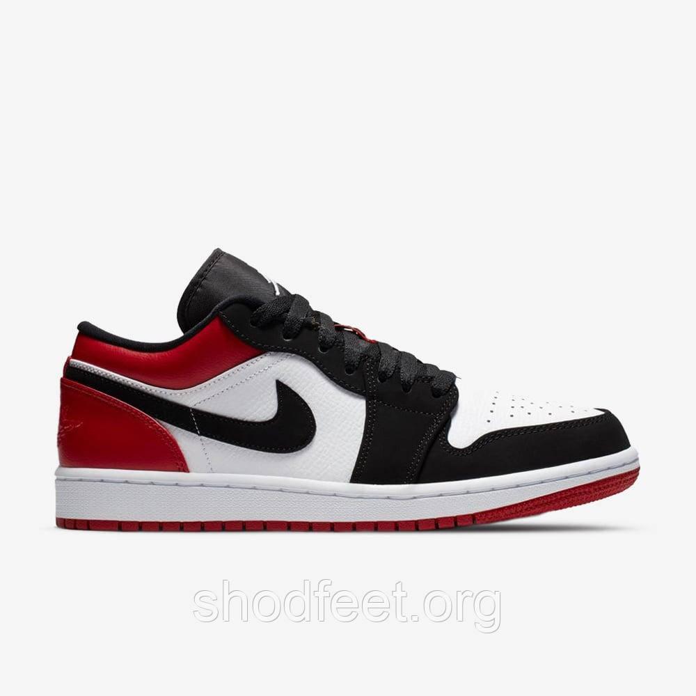 Підліткові кросівки Air Jordan 1Low White Black Red