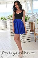 Нарядное платье Изольда юбка индиго, фото 1