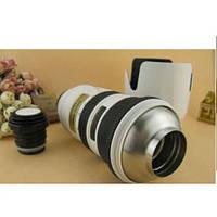 Термос объектив Nikon 70-200mm бел, чашка кружка