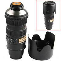 Термос объектив Nikon 70-200mm черн, чашка кружка